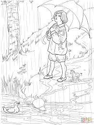 Click The Rain Go Away Coloring Pages