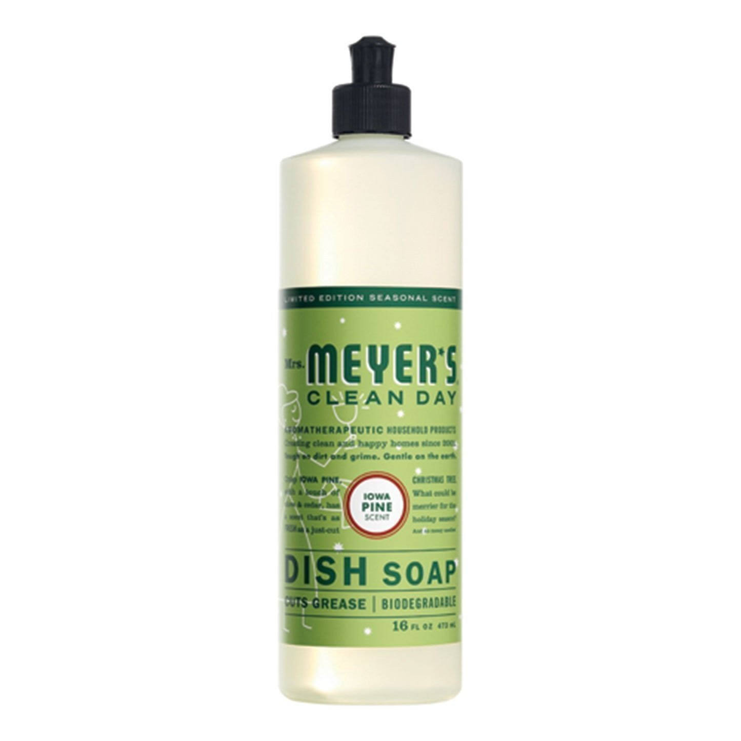 Mrs. Meyer's Clean Day Liquid Dish Soap - Basil, 16oz