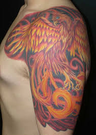 Awesome Phoenix Tattoo Design And Meaning On Shoulder For Men