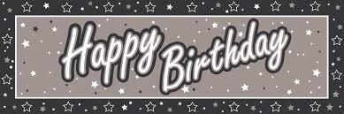 Similiar Black And White Birthday Banner Keywords