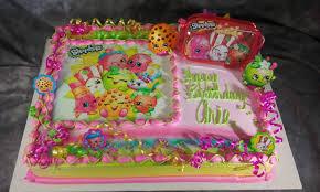 Shopkins Sheet Cake with Figure Set and Edible Image Layon