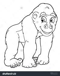 Gorilla Coloring Pages Page Printable Disney
