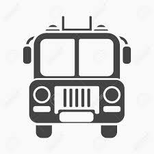 Fire Truck Icon Black Style. Single Silhouette Fire Equipment ...