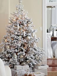 White Flocked Faux Tree