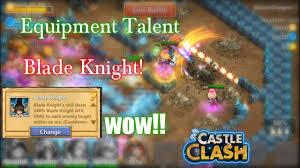 Castle Clash Pumpkin Duke Best Traits by Castle Clash Equipment Talent Blade Knights Gameplay Wow Youtube