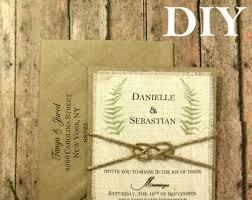 DIY Rustic Wedding Invitation Fern Sage Greenery Botanical Nature Custom
