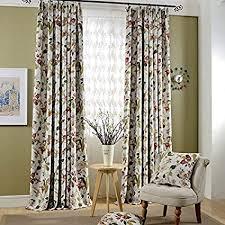 adaada 2er set romantische gardinen vintage vorhänge mit kräuselband klassische blickdicht vorhänge für schlafzimmer wohnzimmer stoffvorhang