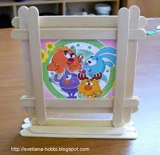 Craft Work For Kids In Ice Cream Sticks Frame Of Children S