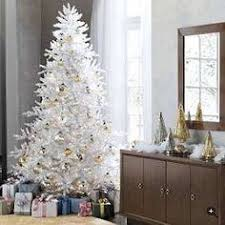 6 1 2 Ft Tall White Winter Pine Lighted 400 Clear Lights Christmas Tree Only