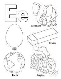 My A To Z Coloring Book Letter E Page