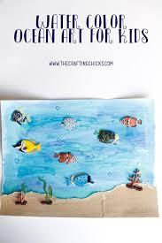 Kids Craft Watercolor Ocean Art