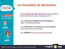 declaration auto entrepreneur chambre des metiers l auto entrepreneur les éléments clés 13 11 pdf