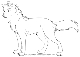 Inspiring Cute Wolf Coloring Pages Template Images Baby Wolves Anime Animal