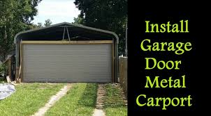 Titan Garages And Sheds by Part 3 How To Enclose A Metal Carport Installing Garage Door