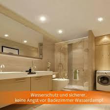 beleuchtung 10x 5w led badezimmer einbaustrahler ip44 gu10