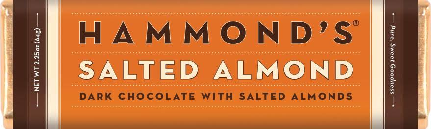 Hammonds Candies Salted Almond Dark Chocolate Bar