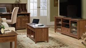 Sauder Edge Water Computer Desk Estate Black by Sauder Edge Water Computer Desk With Hutch In Auburn Cherry