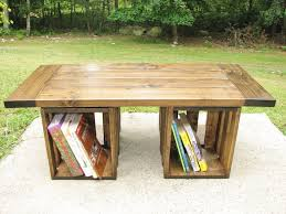 Coffee Tables Best Rustic Storage Table Wood Crate Style Home Design Ideas Image Of