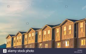 100 Sliding Exterior Walls Panorama Of Townhouses With Wood And Brick Wall