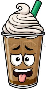 Disgusted Iced Coffee Emoticon PNG