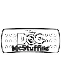Doc McStuffins Logo Coloring Page