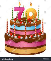Happy Birthday Cake 70 Stock Vector Shutterstock