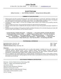 Electrician Resume Sample Examples Best Construction Templates Samples Images On