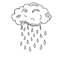 Weather Coloring Pages Rainy