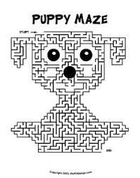 Puppy Maze Activity Sheet