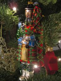 SYYAN Scotland Christmas Tree Wreath Suit Christmas Decorations