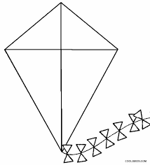Kite Coloring Pages Preschool
