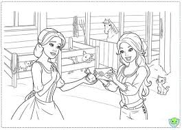 Barbie And Three Musketeers Coloring Pages Give From Mother