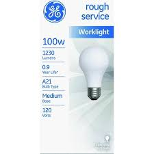 ge l18275 service incandescent worklight bulb a21 100 w