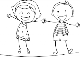 Extremely Inspiration Girl And Boy Coloring Pages Jpg 1024x731 Cartoon Color