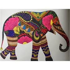 Animal Kingdom Elephant Colouring The Coloring Book Send Colours Pencils