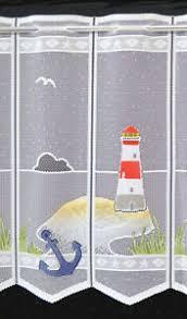leuchtturm scheibengardine badezimmer gardine 45 cm höhe bad