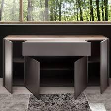 design wohnwand mit sideboard tolone 61 in matt anthrazit mit wotan eiche