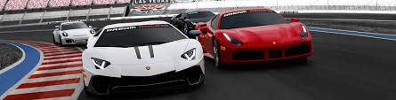 Dream Racing At Las Vegas Motor Speedway. Drive On A Race Track ...