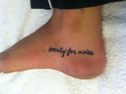 Foot Bible Verse Tattoo