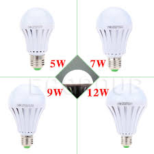 outdoor e27 5w led smart bulb rechargeable emergency light battery