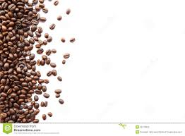 Coffee Beans At Border Stock Photography