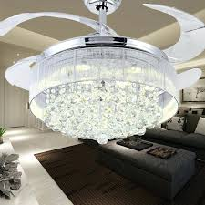 Retractable Ceiling Fan With Light Online Cheap Inch Gold Modern Led