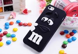 3D M&M Silicone Back Cover Skin Case for Apple iPhone 4 4s 5 5s 5C