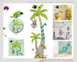 stickers jungle chambre bébé stickers thème animaux de la jungle création de design by