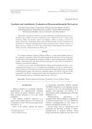 High Ceiling Diuretics Pdf synthesis and antidiabetic evaluation of benzenesulfonamide