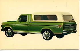 100 Pickup Truck Camper 1974 Ford Camper Shell Green Car Dealer