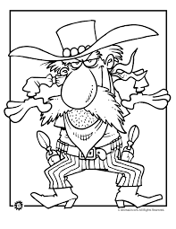 Cowboy Coloring Pages Gunfire Page Animal Jr