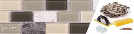 diy peel stick backsplash tile kit mineral tiles
