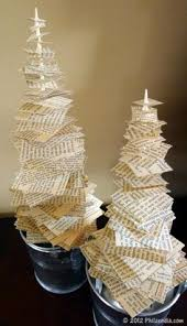 Christmas Tree Books For Kindergarten by Diy Book Page Christmas Trees Recycle Repurpose Crafts 1