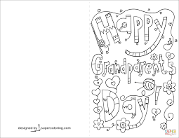 Happy Grandparents Day Doodle Card